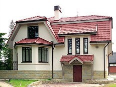 Дом из пеноблоков ПБ-189 (10,8x11,4 м)