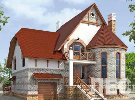 Дом из пеноблоков ПБ-357-2 (11,7 0x12,30 м)