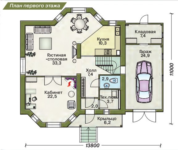 План дома из пеноблока своими руками