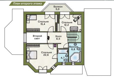 Дом из пеноблоков ПБ-185 (13,8x11 м)