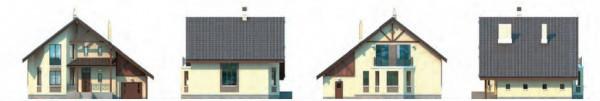 Дом из пеноблоков ПБ-185 (13,80x11,00 м)