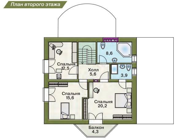 Дом своими руками из пеноблоков план 6