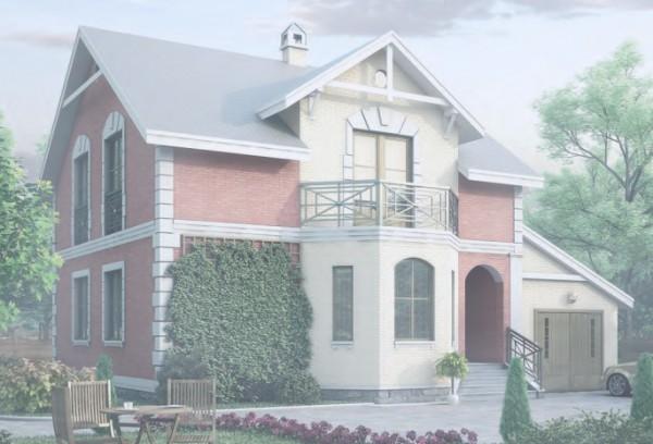 Дом из пеноблоков ПБ-173 (12,9x8,4 м)