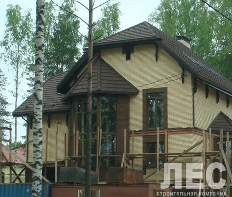Дом из пеноблоков ПБ-314 (14,10x10,20 м)