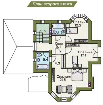 Дом из пеноблоков ПБ-168 (13,80x9,90 м)