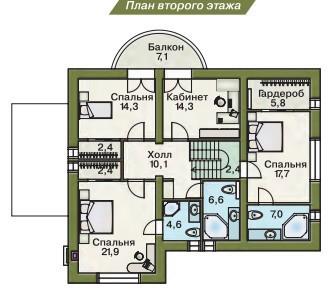 Дом из пеноблоков ПБ-242 (10,80x16,20 м)