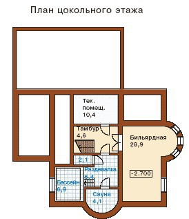 Дом из пеноблоков ПБ-273 (13,5x16,5 м)
