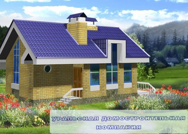 Проект дома из пеноблоков ПБ-48 (6,80x9,20 м2)
